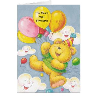 Birthday party bear customizable invitations