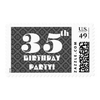 Birthday Party Big Bold Gray Diamonds W1287A Postage Stamp