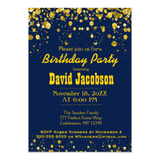 Birthday Party | Blue and Gold Card
