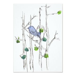 Birthday Party Bluebird Tree Nature Art Card