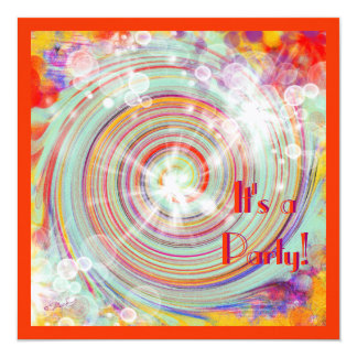 Birthday Party Bright Colorful Creation Card
