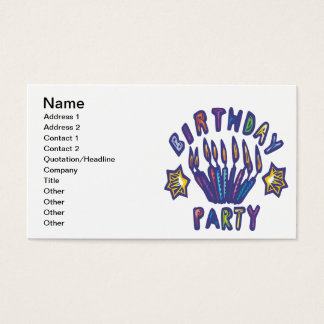 Birthday Party Business Card