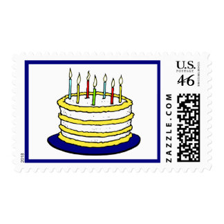 Birthday Party Cake Candles Postage Stamp