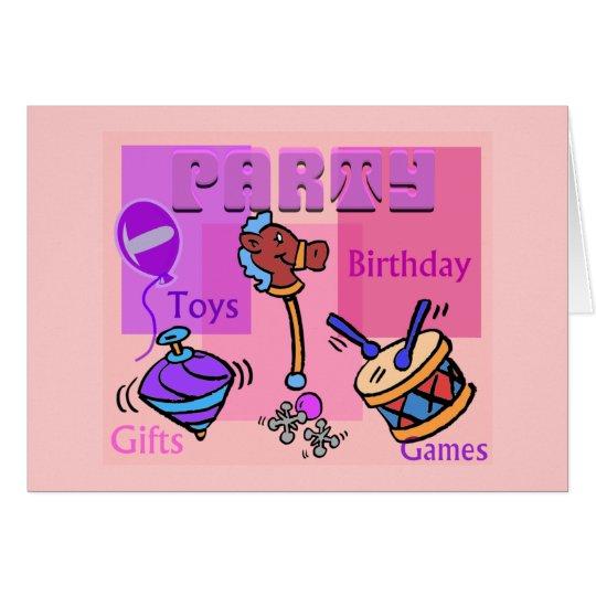 Birthday Party- Card
