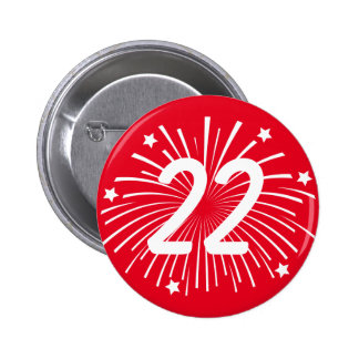 Birthday party celebration buttons with age number
