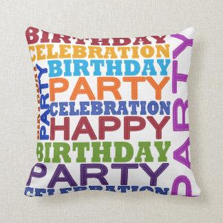 birthday party celebration pillow