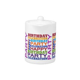 birthday party celebration teapot