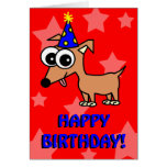 Birthday Party Chihuahua Greeting Card