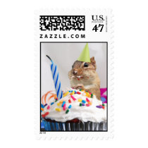Birthday Party Chipmunk Postage