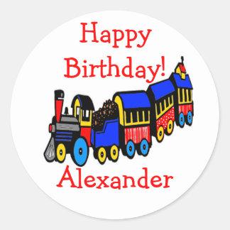 Birthday Party   Choo-Choo Train Classic Round Sticker