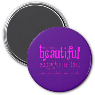 Birthday Party Christmas Beautiful Daughter in Law 3 Inch Round Magnet