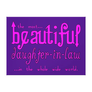 Birthday Party Christmas Beautiful Daughter in Law Gallery Wrap Canvas