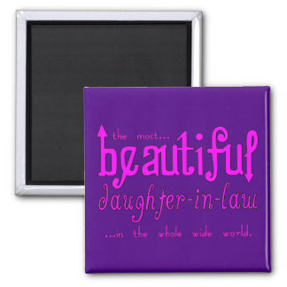 Birthday Party Christmas Beautiful Daughter in Law Refrigerator Magnet