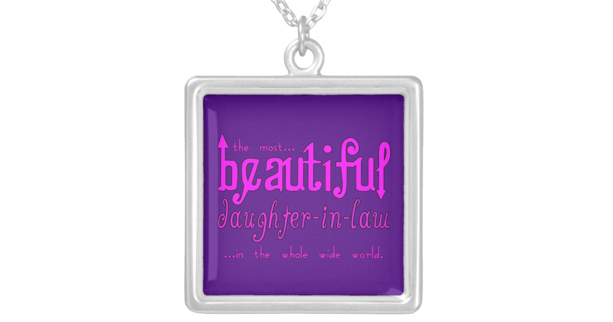 Birthday Party Christmas Beautiful Daughter In Law Silver Plated Necklace Zazzle Com