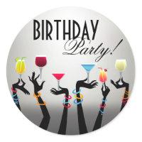 Birthday Party Cocktail Sticker