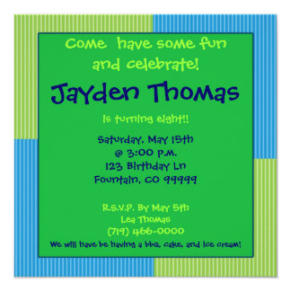 Birthday party Come  have some funand celebrat... 5.25x5.25 Square Paper Invitation Card