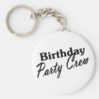 Birthday Party Crew Keychain