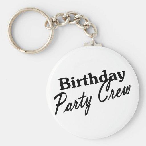 Birthday Party Crew Keychains