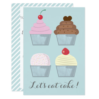 Birthday Party Cupcake Invitation