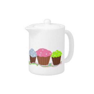 Birthday Party Cupcakes Teapot
