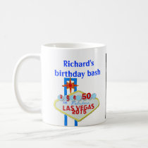 Birthday Party  Custom Las Vegas Sign Coffee Mug