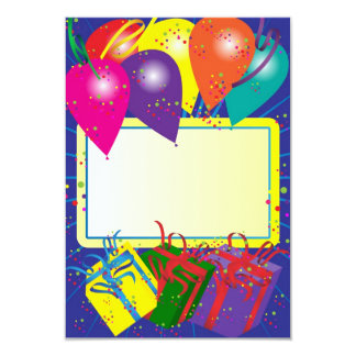 Birthday Party Design Card