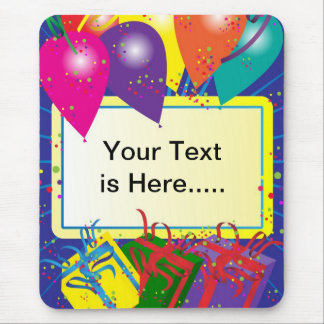 Birthday Party Design Mouse Pad