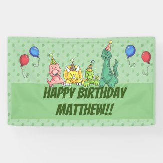 Birthday Party Dinos Banner