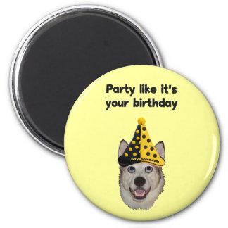 Birthday Party Dog Magnet