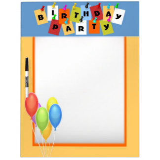 Birthday Party Dry Erase Board