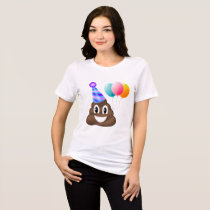 Birthday Party Emoji Poop Relaxed Fit T-Shirt