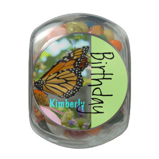 Birthday Party Favors Personalize Name Jelly Belly Glass Jars