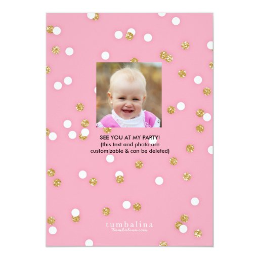 Birthday Party   First Birthday Princess Cards (back side)