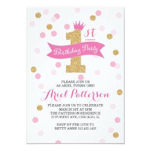 Princess birthday invitations announcements zazzle birthday party first birthday princess invitation filmwisefo