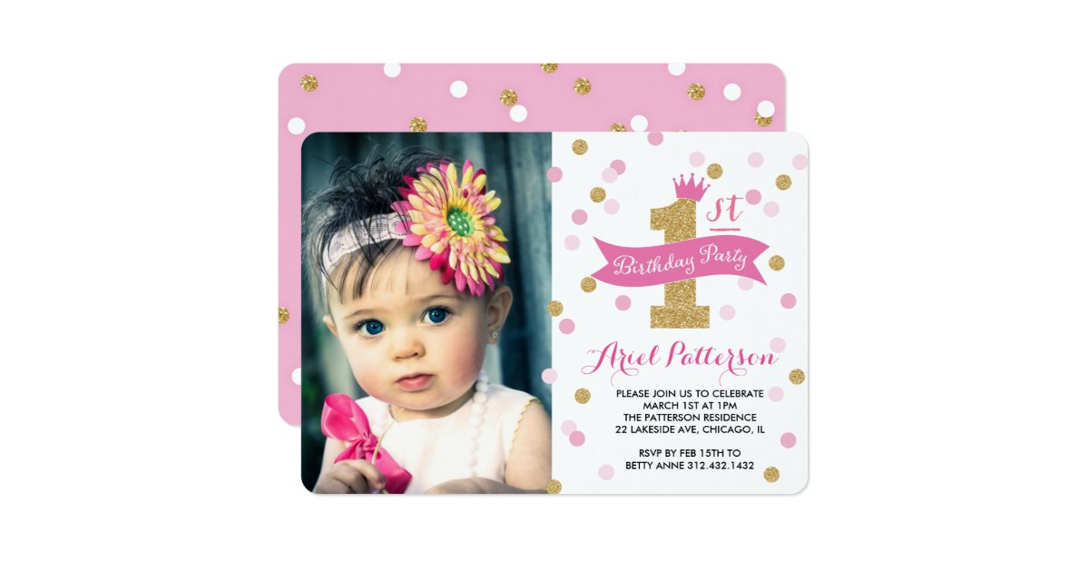 First Birthday Invitations Announcements – My First Birthday Invitation