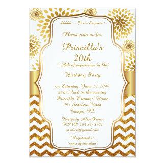 Birthday Party, Gatsby style, Chrysanthemum Card