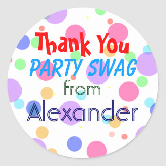 Birthday Party Gift Bag-Colorful Classic Round Sticker
