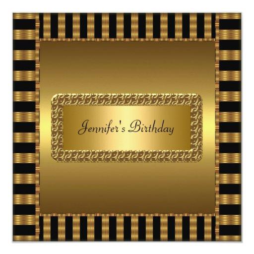 Birthday Party Gold Any age Invites