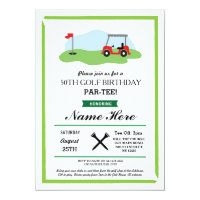 Birthday Party Golf Any Age 50th 60th Invitation