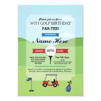 Birthday Party Golf Any Age Golfing Invitation
