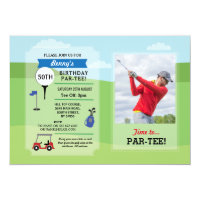 Birthday Party Golf Any Age Golfing Photo Invite