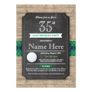 Birthday Party Golf Ball Any Age Golfing Invite
