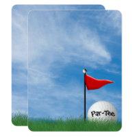 Birthday Party Golf theme Invitation