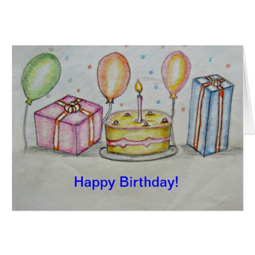 Birthday party greeting cards