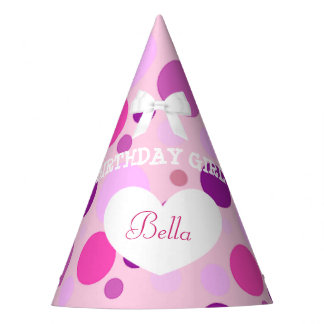 Birthday Party Hat Birthday Girl PInk and Purple