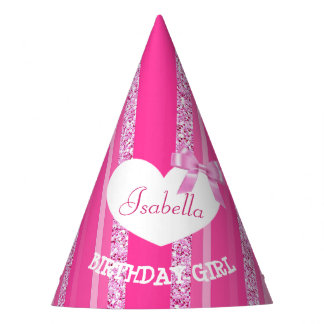 Birthday Party Hat Birthday Girl PInk Bow
