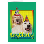 Birthday Party Hat - Golden Retriever Tebow Corona Greeting Card