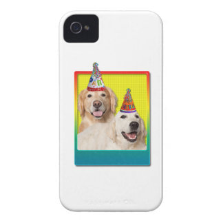 Birthday Party Hat - Golden Retriever Tebow Corona iPhone 4 Cover
