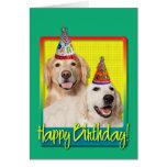 Birthday Party Hat - Golden Retriever Tebow Corona Greeting Card