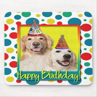 Birthday Party Hat - Golden Retriever Tebow Corona Mousepads